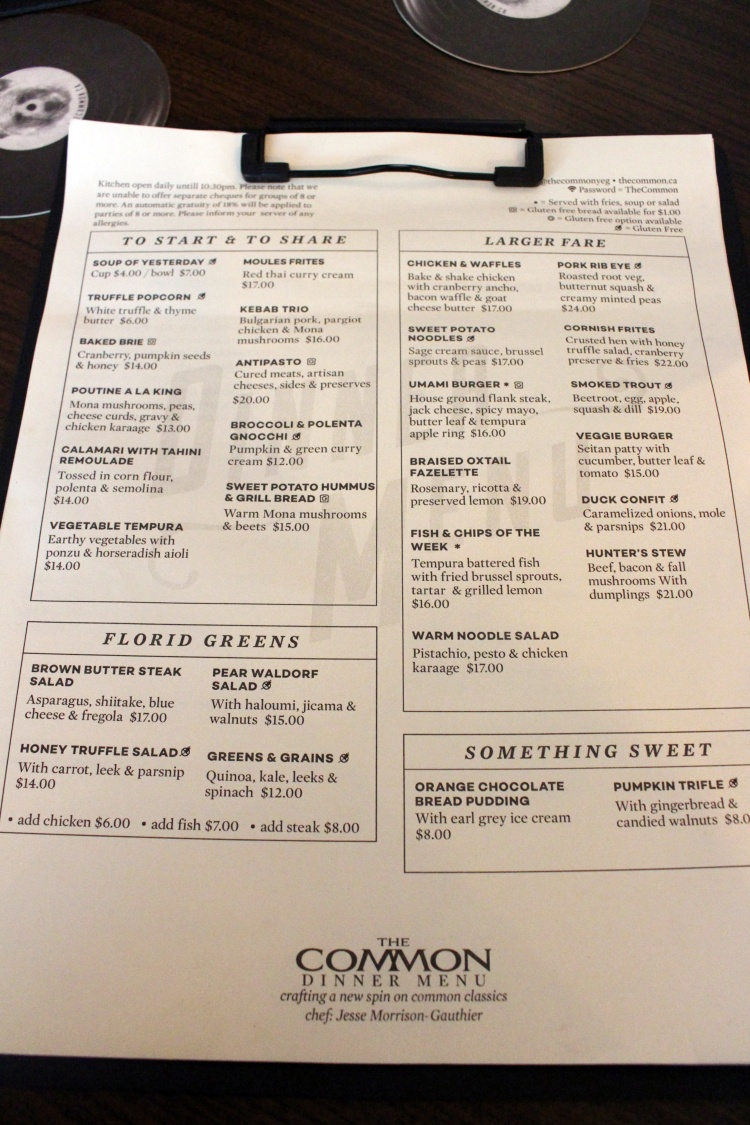Common Menu