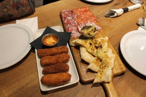 Potato Croquettes + Salumi Board