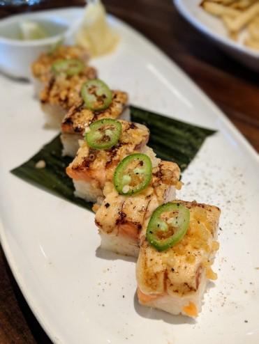 Osaka Style Pressed Salmon Sushi
